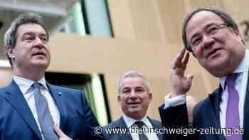 Kanzlerkandidatur in der Union: Söder sagt Laschet volle Unterstützung zu