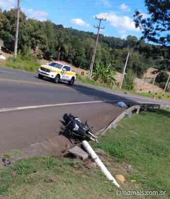 Motociclista morre em acidente na SC-135 em Videira - ND Mais