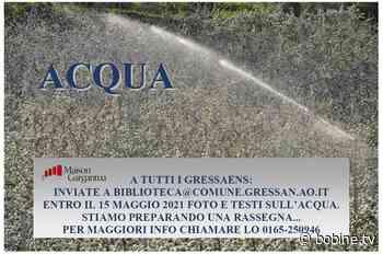 L'acqua è la protagonista di un'iniziativa della Biblioteca di Gressan - bobine.tv - Bobine.tv