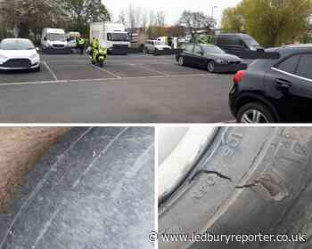 Police crack down on illegal tyres in Hereford