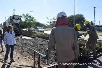 Fuentes supervisó obra de pavimentación en el B° Colón - Nuevo Diario de Santiago del Estero