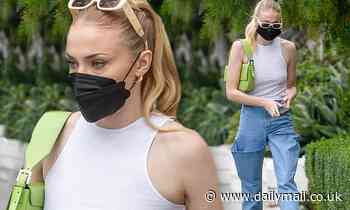 Sophie Turner looks effortlessly cool as she steps out for lunch with husband Joe Jonas in LA