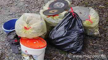 Grüne Fraktion Rottendorf sammelte in freier Natur Müll ein - Main-Post