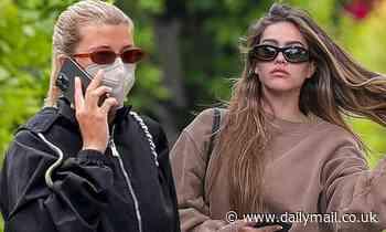 Amelia Hamlin and Sofia Richie arrive at SAME Pilates studio on SAME DAY