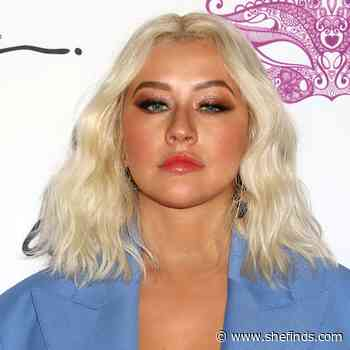 The Skintight Slip Dress Christina Aguilera Just Wore For 'health' Magazine Is Almost Too Hot To Handle! - SheFinds
