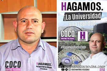 Respalda Coco Martínez su propuesta de módulo universitario - NotiArandas