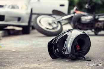 Accident entre une moto et une voiture au Vaudreuil - actu.fr