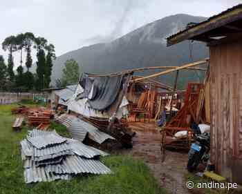 Pasco: vientos fuertes causan daños materiales en viviendas en Oxapampa - Agencia Andina