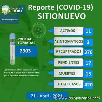 Hoy en Sitionuevo se registran 13 muertes nuevas por Covid-19 - Opinion Caribe