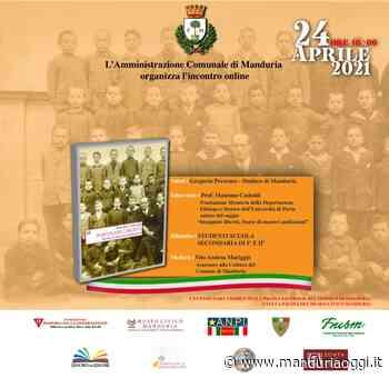 MANDURIA - Festa della Liberazione, sabato la presentazione del libro di Massimo Castoldi 'Insegnare libertà. Storie di maestri antifascisti' - ManduriaOggi