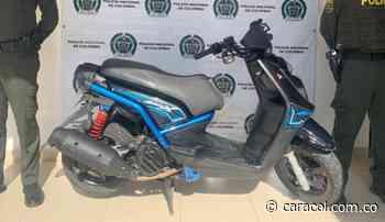 Recuperan en Riosucio, Caldas una motocicleta hurtada en Yopal, Casanare - Caracol Radio