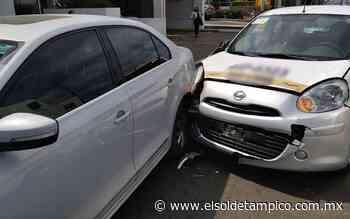 Accidente vial deja a mujer lesionada en la colonia Vista Hermosa - El Sol de Tampico