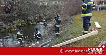 Feuerwehren errichteten Ölsperren : Unbekannte Menge Hydrauliköl floss in Vordernbergerbach - Kleine Zeitung