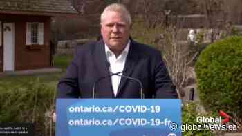 Doug Ford says province to address paid sick leave for those forced to quarantine