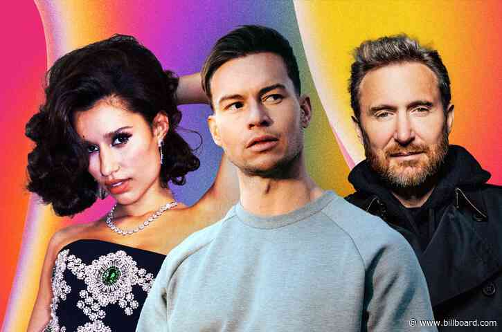 Joel Corry, Raye & David Guetta Get Comfy Atop Dance/Mix Show Airplay Chart With 'Bed'