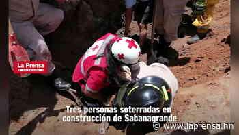 Tres personas soterradas en construcción de Sabanagrande - Diario La Prensa - La Prensa de Honduras