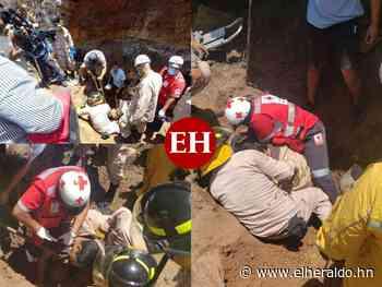 Dramáticas imágenes del rescate de tres hombres soterrados en Sabanagrande (FOTOS) - Diario El Heraldo - ElHeraldo.hn