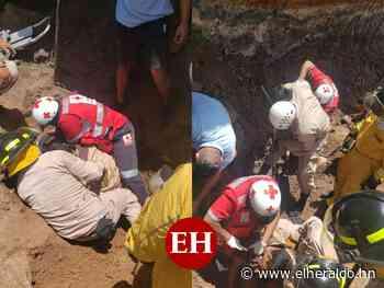 Rescatan a tres personas soterradas en construcción en Sabanagrande - ElHeraldo.hn