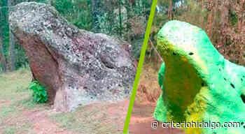 Reprochan pinta de la Piedra del Sapo, en San Bartolo - Criterio Hidalgo