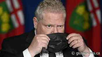 Amid plummeting popularity, Ontario Premier Doug Ford offers apology, pledges paid sick leave