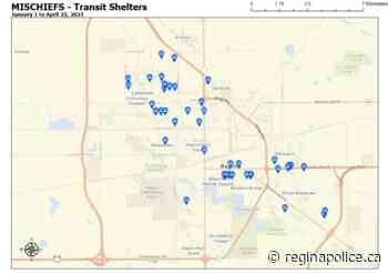 Damage to Bus Shelters – Request Assistance – Regina Police Service - Regina Police Service