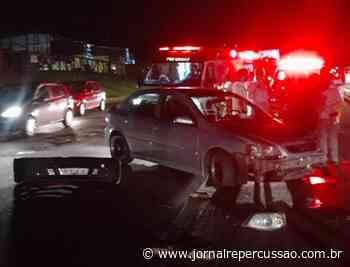 Acidente entre automóvel e motocicleta deixa mulher ferida em Nova Hartz - Jornal Repercussão