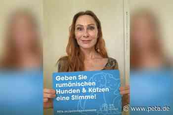 "Andrea Sawatzki spricht Radiospot für ""PETA HELPS ROMANIA"" - PETA Deutschland e.V."
