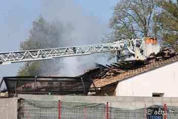 PHOTOS : un feu en cours près d'Aizenay, deux personnes évacuées - Le Courrier Vendéen