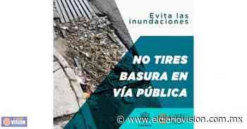 Gobierno de Zacapu, invita a no tirar basura en espacios públicos - El Diario Visión