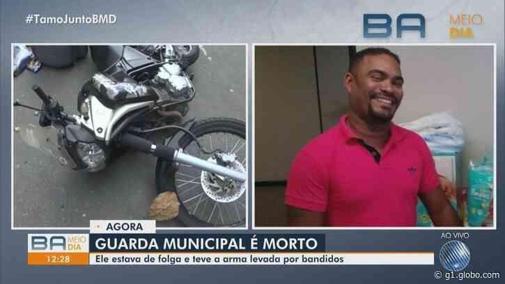 Guarda municipal é morto a tiros no bairro de Brotas, em Salvador - G1