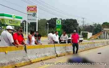 Muere arrollado en la Villahermosa-Teapa - El Heraldo de Tabasco