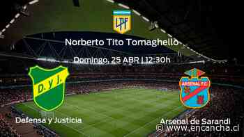 Defensa y Justicia vs Arsenal de Sarandi: Programación y previa - EnCancha.cl