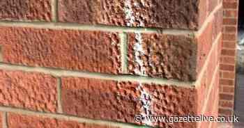 Ingleby Barwick mum's warning after sinister chalk marks appear on house - Teesside Live