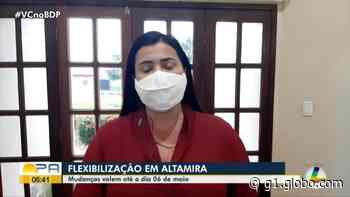 Decreto municipal em Altamira reduz toque de recolher e flexibiliza medidas restritivas - G1