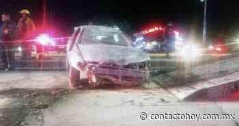 Volcadura de auto compacto deja 5 lesionados en San Juan del Rio - Contacto Hoy
