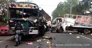Dos lesionados tras aparatoso choque en carretera Troncal del Norte, Guazapa - Solo Noticias