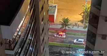 Piscina desaba sobre garagem de edifício em Itaparica, Vila Velha - A Gazeta ES