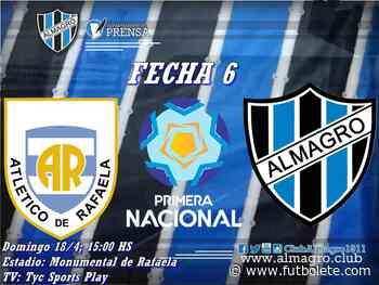 Atlético Rafaela 4 vs 1 Almagro por la fecha 6 de la Primera Nacional Argentina - Futbolete