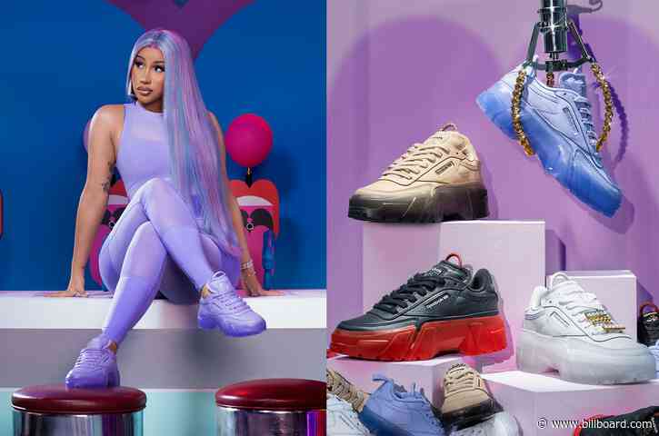 Cardi B & Reebok Unveil 90s-Inspired Apparel Collection
