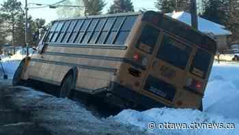 School bus slides off Petawawa road | CTV News - CTV Edmonton