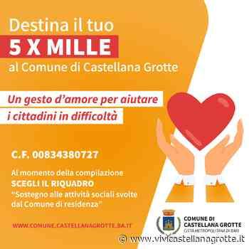 Donare il 5 per mille al Comune di Castellana-Grotte - ViviCastellanaGrotte