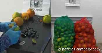 Jugosas naranjas resultaron ser el camuflaje de una encomienda de droga que iba para una cárcel - Noticias Caracol