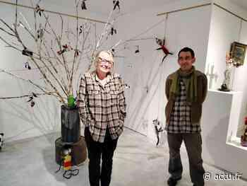 A la médiathèque de Domfront en Poiraie, Amanda et Christophe redonnent vie et poésie à nos déchets - actu.fr