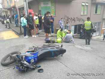 Motociclista lesionado en accidente en Villamaría - La Patria.com