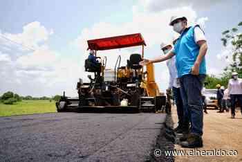 78% de avance en la vía Magangué-Achí, en Bolívar: Blel - EL HERALDO