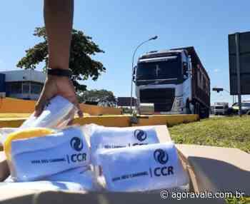 Kits de higiene são distribuídos pela CCR NovaDutra em Queluz - AgoraVale