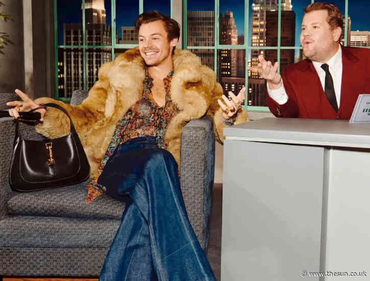 Harry Styles breaks down gender conventions as he clutches Gucci handbag in campaign video with James... - The Sun