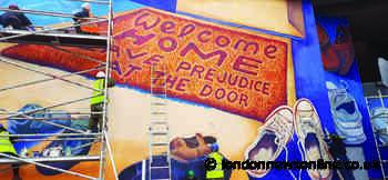 Lewisham students help community group create migration themed mural on Lewisham Shopping centre - London News Online
