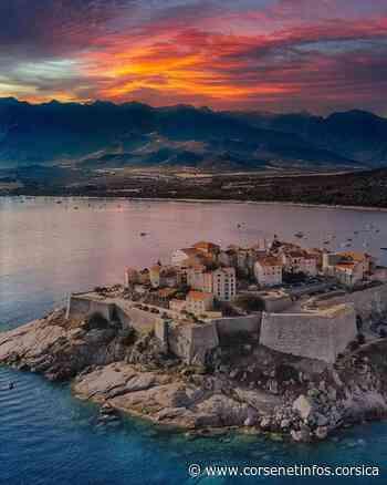 La photo du jour : la citadelle de Calvi sous un soleil de feu La photo du - Corse Net Infos