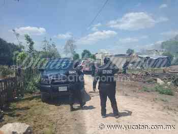 El incendio de un monte alcanzó una vivienda aledaña en Ticul - El Diario de Yucatán